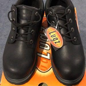 NIB Black Leather Drifter Lo LUGZ, slip resistant.